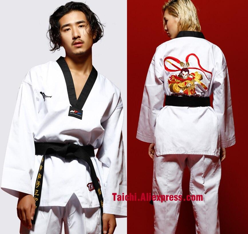 Taekwondo de Taekwondo para adultos, ropa de Taekwondo de manga larga para hombres y mujeres