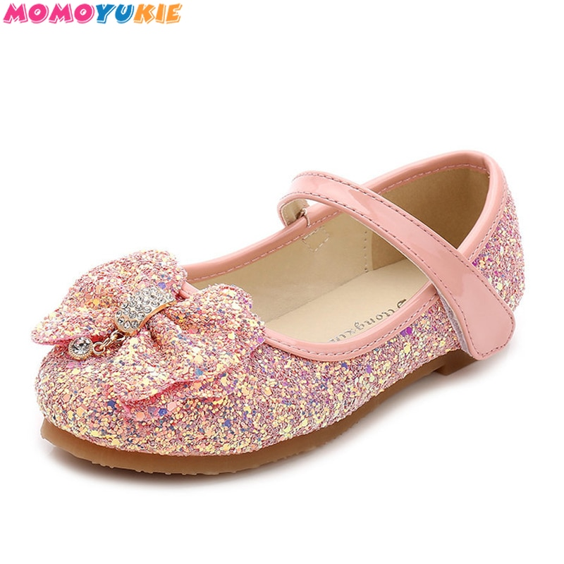 Children Princess Shoes New 2017 Girls Sequins Wedding Party Kids Baby Enfants Hot Shoes for Girls P