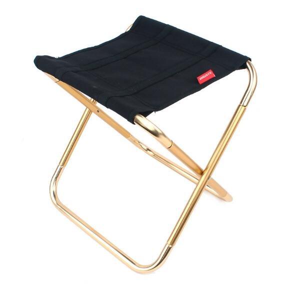 portable aluminum folding chair stool seat outdoor fishing camping picnic padded folding chair fishing Outdoor folding chair 7075 aluminum alloy fishing chair barbecue stool folding portable stool camping stool
