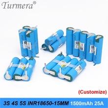 3S 12.6V 4S 16.8V 5S 18V batterie INR18650-15MM 1500mah 25A courant de décharge pour batterie tournevis shura (personnaliser)