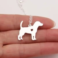 beagle necklace stocking stuffer pendant puppy heart dog lover memorial pet necklaces pendants christmas gift