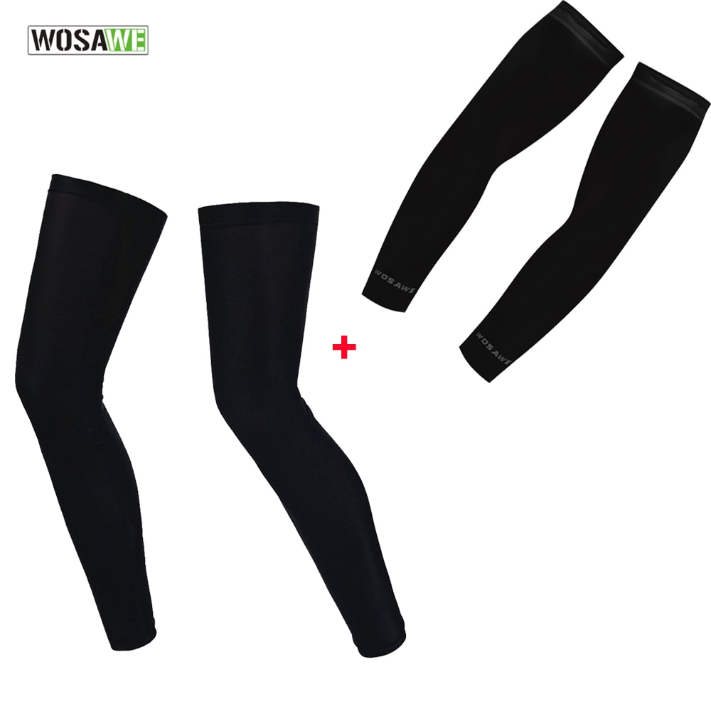WOSAWE transpirable de secado rápido calentadores y calcetines protección UV corriendo. Corriendo senderismo baloncesto fútbol brazo y pierna mangas