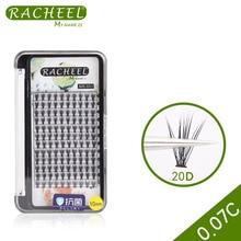Faux cils professionnels de haute qualité RACHEEL 0.07C 20D extension super douce de 12 rangées outils de maquillage de cils greffés