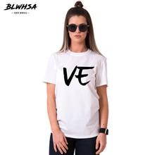 BLWHSA Couple Women T-shirt For Lovers Hipster Fashion Black Gray White Love Short Sleeve Tops Stude