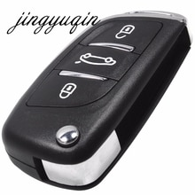 Jingyuqin KD-coque de clé de voiture   Pliable, pour NISSAN TIIDA LIVINA GENISS NV200 QASHQAI Paladin D50/R50 SYLPHY