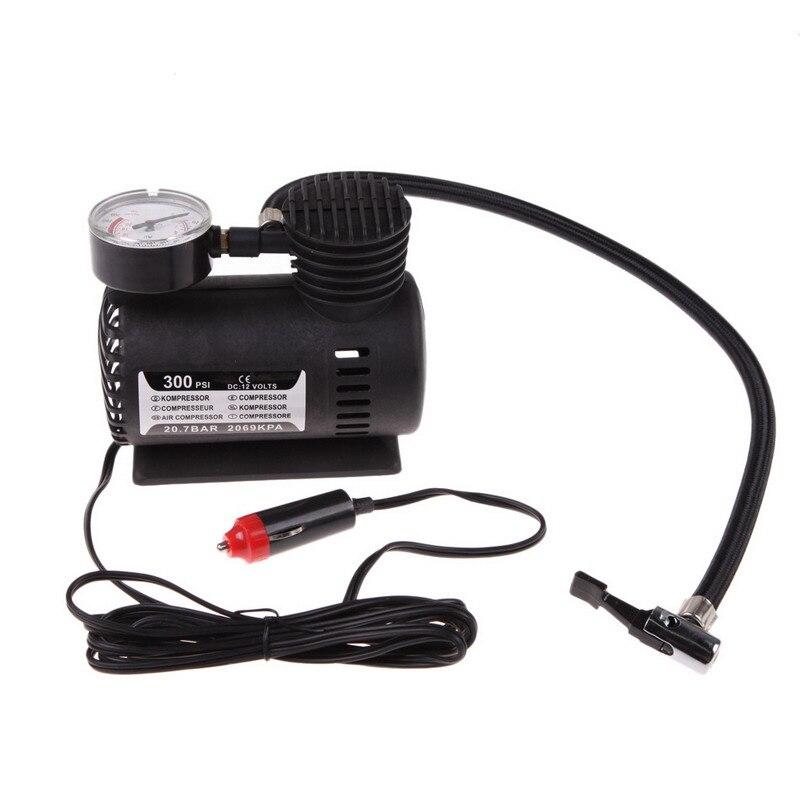 Compresor de aire eléctrico Universal portátil versátil de 12V para coche, Motor de bicicleta, rueda, neumático, Infaltor, bomba 300 PSI XR