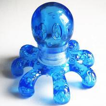 Красочный случайный портативный Кристальный массажный ручной массажер-Осьминог для снятия боли в шее, животе и спине
