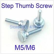 20 unids/lote M5/M6 cabeza plana paso tornillo de pulgar/cabeza redonda paso moleteado mano giro tornillo/mano apretar la longitud de los tornillos 8mm-40mm
