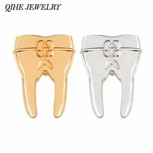 QIHE bijoux broche à dents broches bijoux médicaux dentiste bijoux cadeau pour médecins infirmière étudiants en médecine
