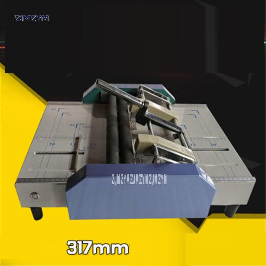 A3 دباسة كهربائية قابلة للطي آلة الكهربائية التجعيد ماكينة البطاقات قابلة للطي آلات ، صفحات ملونة آلة المهروسة 110 فولت/220 فولت ZY-1