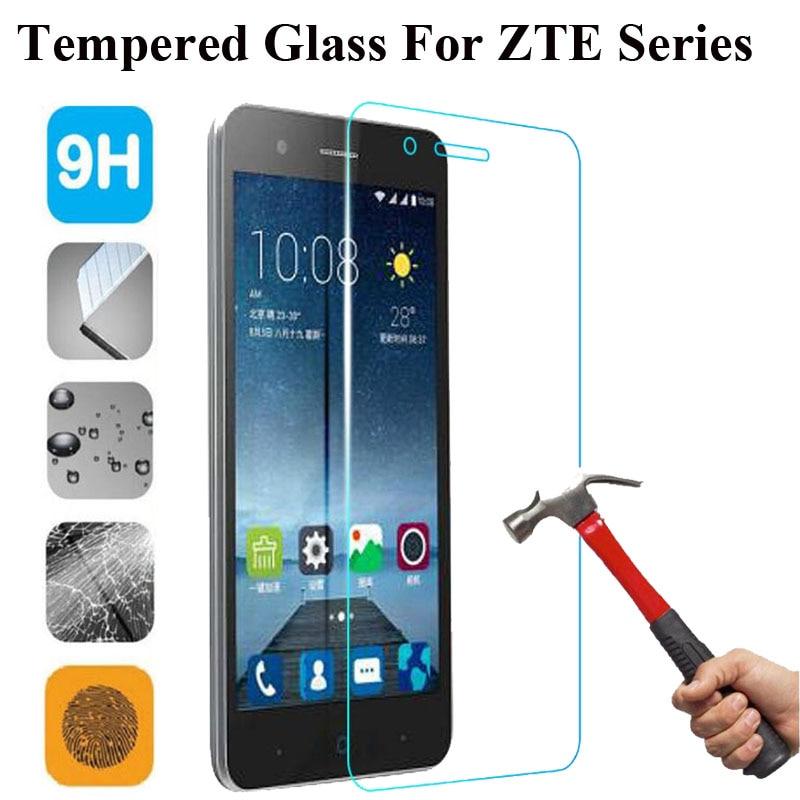 9H Tempered Glass For ZTE Blade GF3 A510 A452 X3 X5 X7 X9 D6 S6 L3 L5 A1 Nubia Z11 L2Plus Screen Protector Cover Case Guard Film