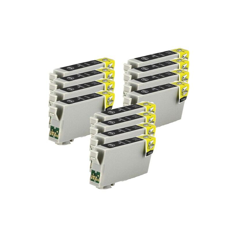 Compatível BK cartucho de tinta PRETA para EPSON T0711 SX205 SX209 SX210 SX215 SX218 SX400 SX405 SX405WiFi SX410 SX415 SX510W