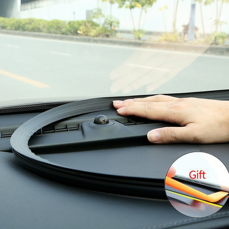 Автомобильная Звуконепроницаемая резиновая уплотнительная приборная панель, уплотнительная лента, Стайлинг, наклейка для Audi A4 A3 Mercedes Benz W211 W204 W212 BMW E39 E46 E60