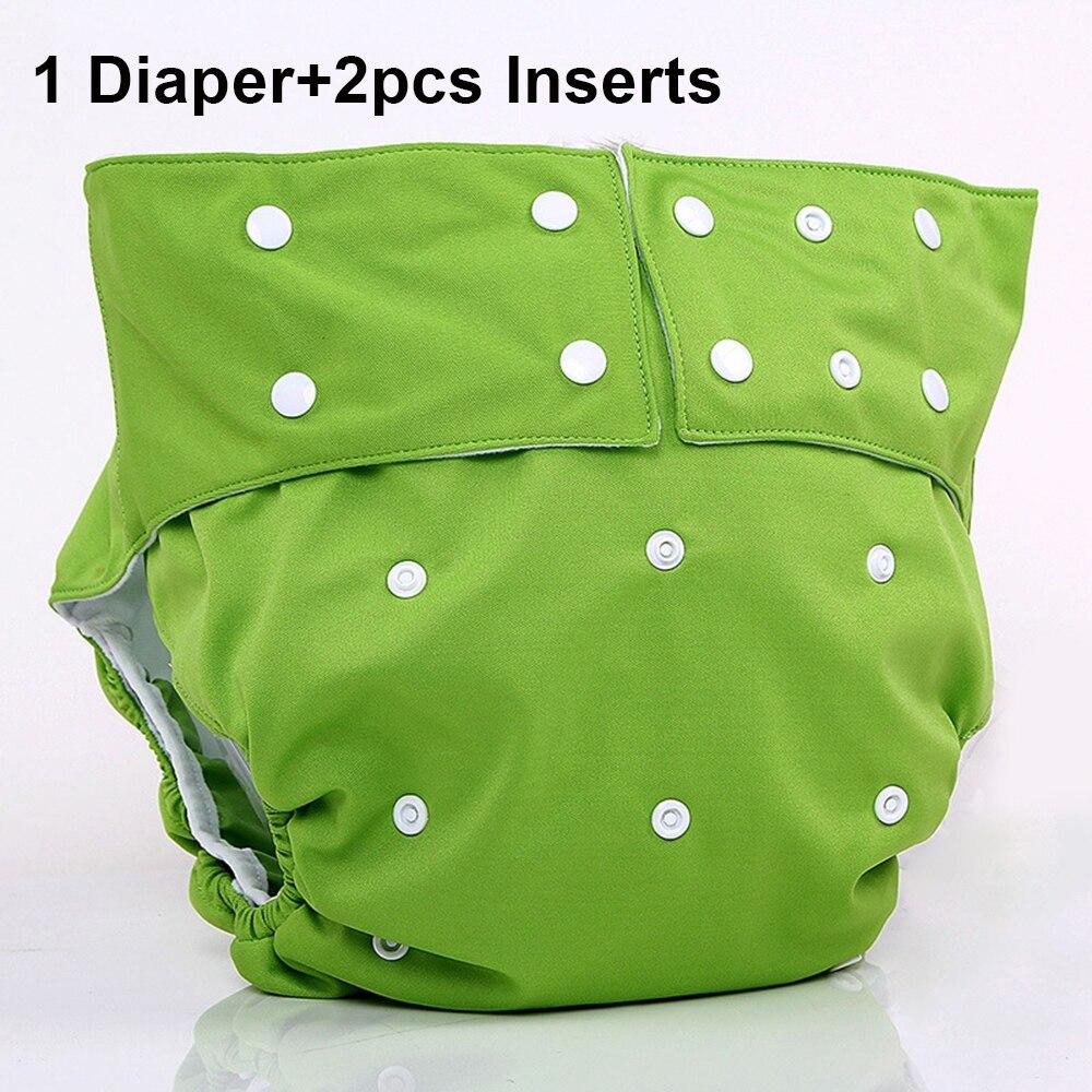 Pañal de tela para adultos, pañal de incontinencia, impermeable, suave para discapacitados, reutilizable, pañales médicos para adolescentes con insertos, pantalones lavables