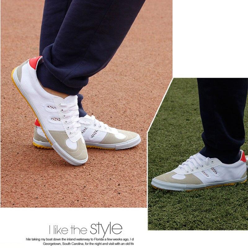 Купить с кэшбэком USHINE EU35-46 Volleybal Classic ShuangXing Shoes Original Cooperation Martial Arts KungFu TaiChi ShuangXing Sneakers Man Woman