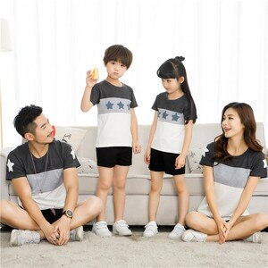Mommy And Me Clothes Big Dister Father Son Mother And Daughter Matching Clothing Family Look Summer Fashion T-shirt Short Sleeve