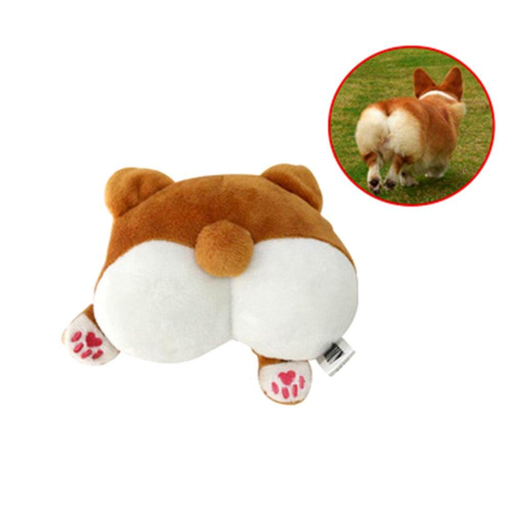 Encantador juguete de peluche con forma de perro Corgi para perros, divertido juguete interactivo, juguete cachorro perro, culo, chirrido para masticar con chirrido, juguetes para cachorros