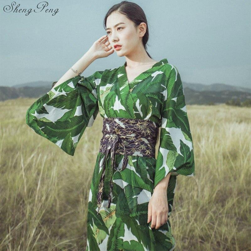 Kimonos japoneses tradicionales nueva sensación ropa kimono túnica yukata estampado floral moda mujeres kimonos vestido japonés V1468