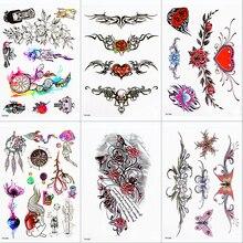 Autocollant de Tatouage Temporaire étanche papillon aile de fleur faux Tatto Flash Tatoo Tatouage Temporaire poitrine arrière pour les femmes fille