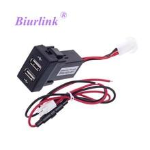 Biurlink chargeur USB Ford pour tablette   Bricolage, double Port USB, chargement de tableau de bord, panneau de voiture, montage sur smartphone