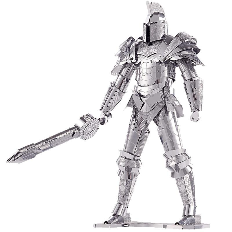 P079-S de soldado de armadura de caballero negro modelo de Metal DIY corte láser rompecabezas modelo Piececool 3D nano puzle juguetes para regalo para adultos