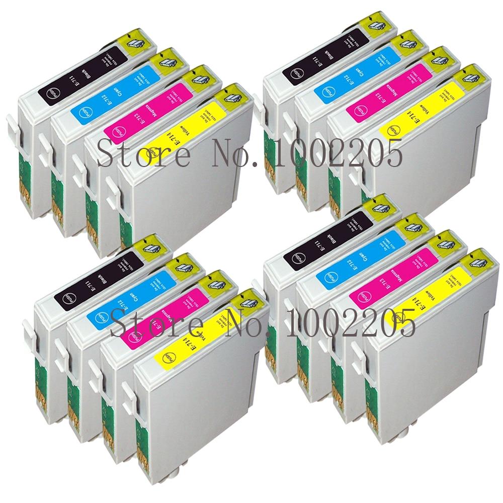 16 Compatible Ink Cartridges for Epson Stylus T0711-T0714 T0715 T0711 T0712 T0713 T0714 Inkjet Printer
