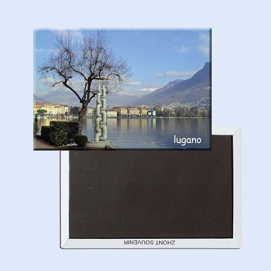 Lugano_switzerland-imanes de nevera de viaje, 21141