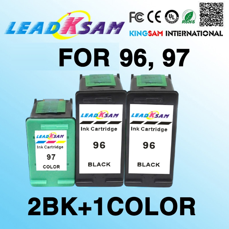 3x cartuchos de tinta compatible para hp96 97 96 97 PhotoSmart 8750 8750gp 8750xi 8753 8758 Deskjet serie 5940 5940xi 8050 460 460cb