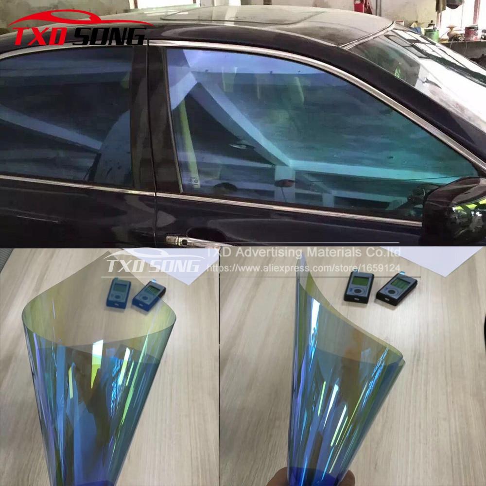 50 см * 300 см/лот хамелеоновая Автомобильная боковая оконная пленка, тонированная Защитная Наклейка для автомобиля с бесплатной доставкой
