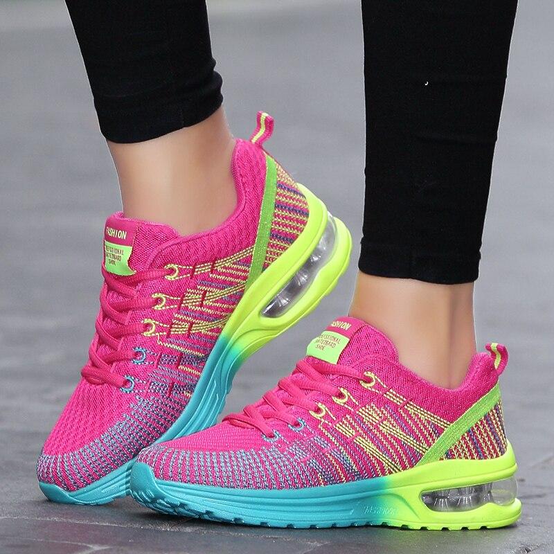 PUIMENTIUA, zapatillas de verano para mujer, zapatillas transpirables acolchadas para correr para mujeres, zapatos para correr para mujer, zapatos de mujer