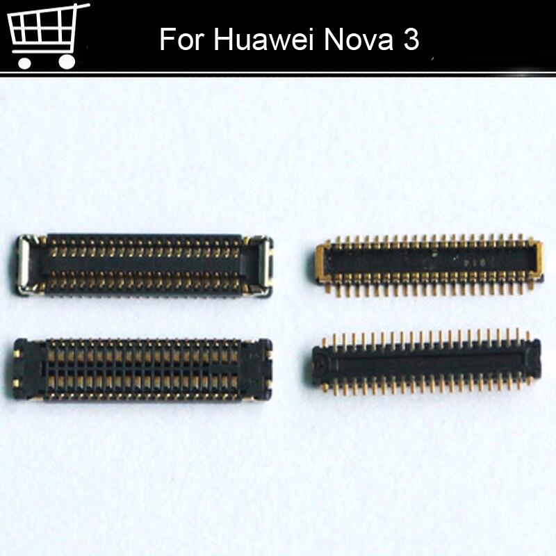 5 uds conector FPC para Huawei Nova 3 puerto de carga USB en cable flexible en placa base para Huawei Nova3 partes