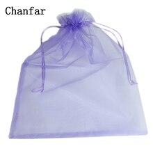 100 pièces/sac 30*40cm 35x50cm Sacs En Organza Blanc Jonquille Rose Violet Bleu Or Cadeau Sacs & Pochettes