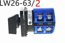 Commutateur à came rotatif manuel   Tension cc de haute qualité, commutateur à caméra rotative deux pôles (phase), points de contact en argent