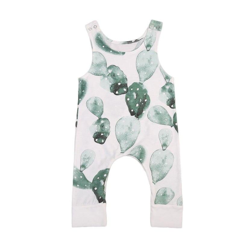 Pudcoco, mono de verano sin mangas para recién nacido, niña, niño, mono de cactus, ropa de verano para bebé