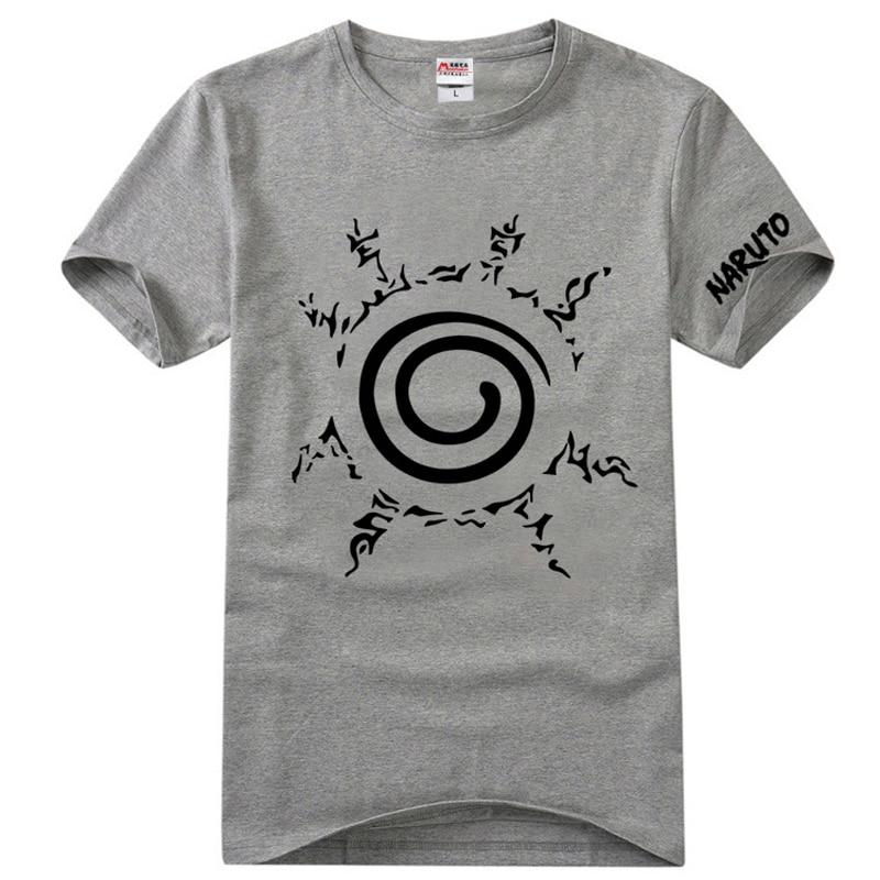 2018 Casual hombres mujeres camiseta Anime Uzumaki camiseta naruto manga corta algodón estampado moda Tops camisetas Cosplay disfraz Hip-pop