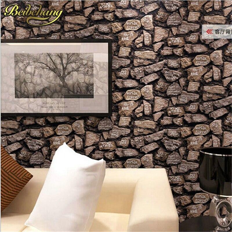 Papel tapiz beibehang, Papel tapiz 3D grueso, papel tapiz estéreo para decoración del hogar, Papel tapiz de Pared impermeable