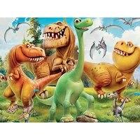 Peinture de diamant carre complet de dinosaure  kit de broderie  monde de dessin anime  mosaique de strass  point de croix  a faire soi-meme  decoration de maison