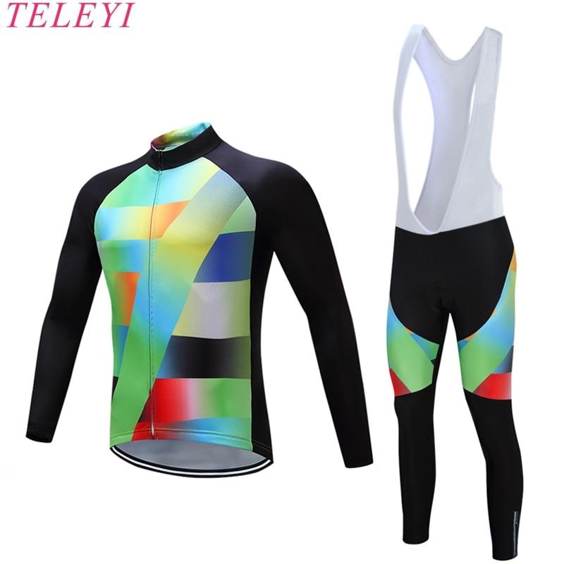 2017 nueva marca de ciclismo Jersey manga larga bicicleta de carreras ropa de ciclismo MTB Usar ropa ciclismo ropa deportiva ropa de ciclismo