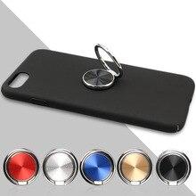 360 prise rotative doigt anneau support métal téléphone Mobile CD Spin téléphone anneau support pour iPhone X 8 7 Plus voiture support SMSNXY