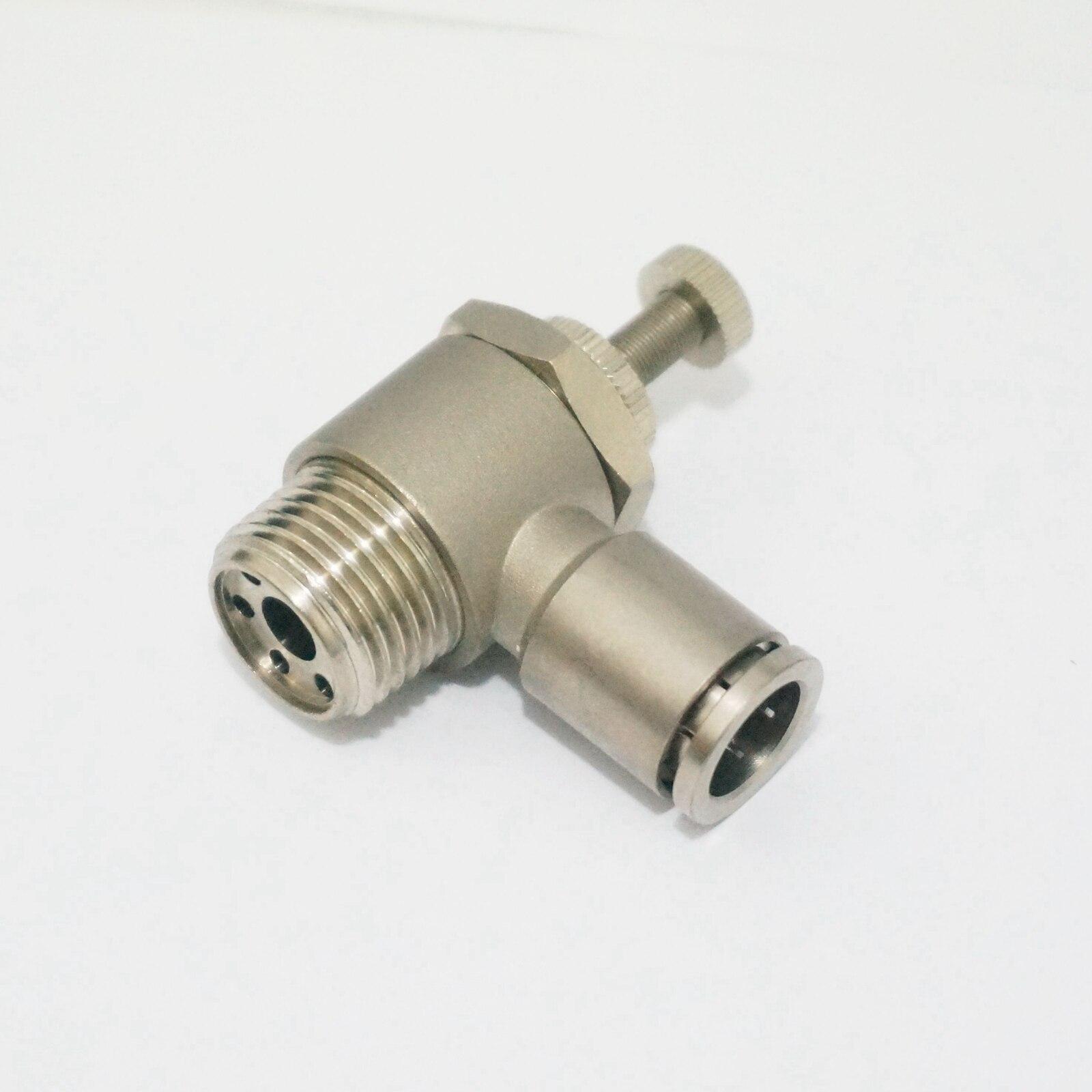 """Unión neumática de empuje en el flujo Válvula de control de velocidad liberación rápida conexión de aire Ajuste de empuje 1/2 """"BSP macho x tubo O/D 12mm"""