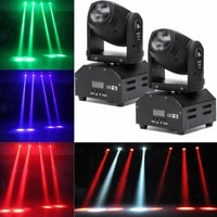 2 pack 50w rgbw led beam moving head stage lighting dmx512 dj disco party light