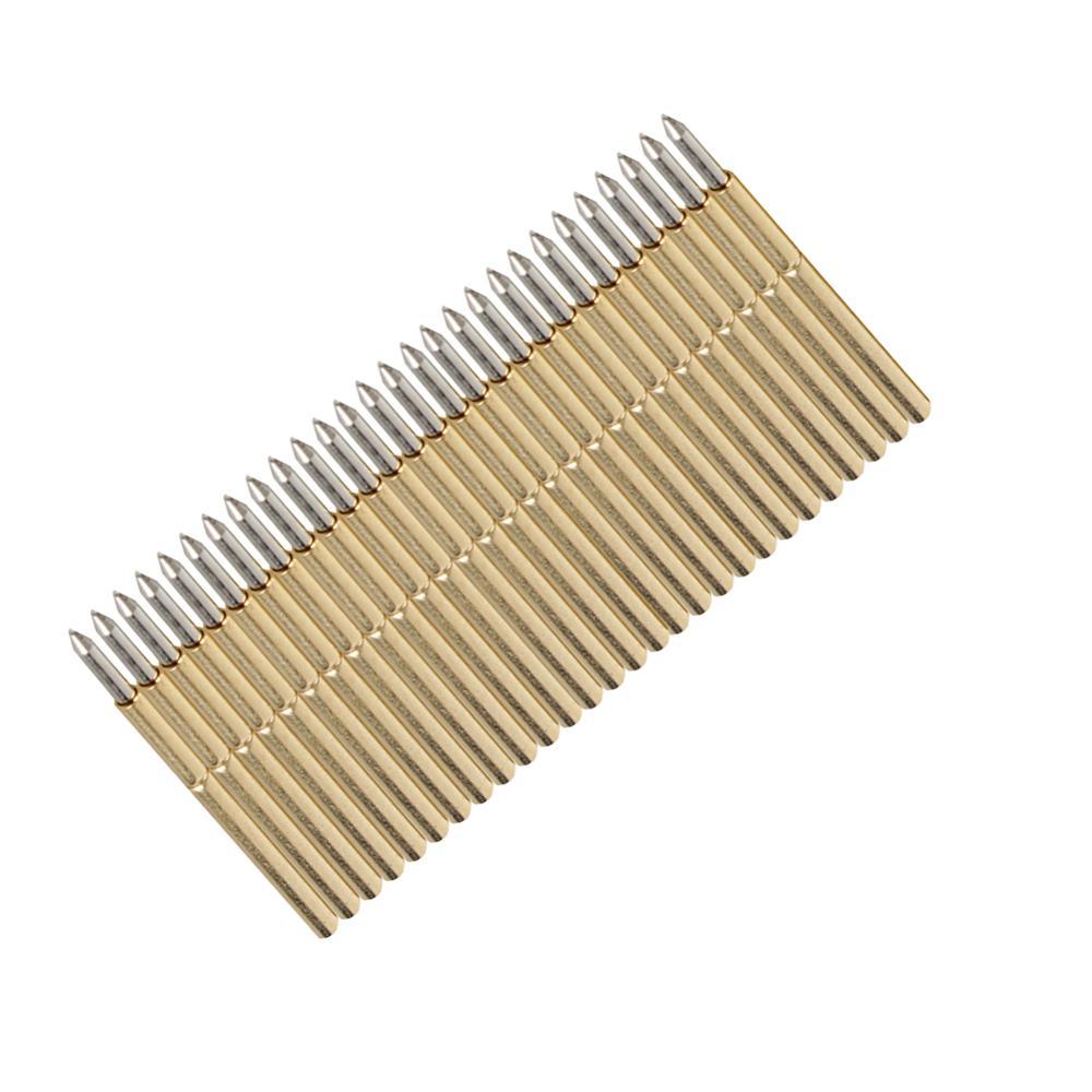100 unids/set P50-J1/P50-B1/P75-B1/P75-E2/P100-E2 sonda de prueba de resorte redondo Pogo Pin 3A