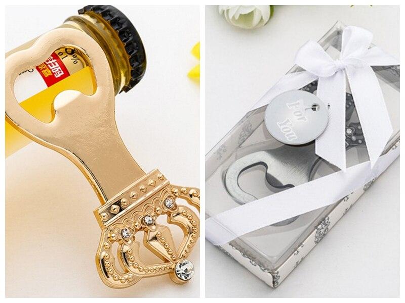 (10 unids/lote) abrebotellas de decoración de corona real de plata y oro para decoraciones de fiesta de despedida de soltera y regalos de boda
