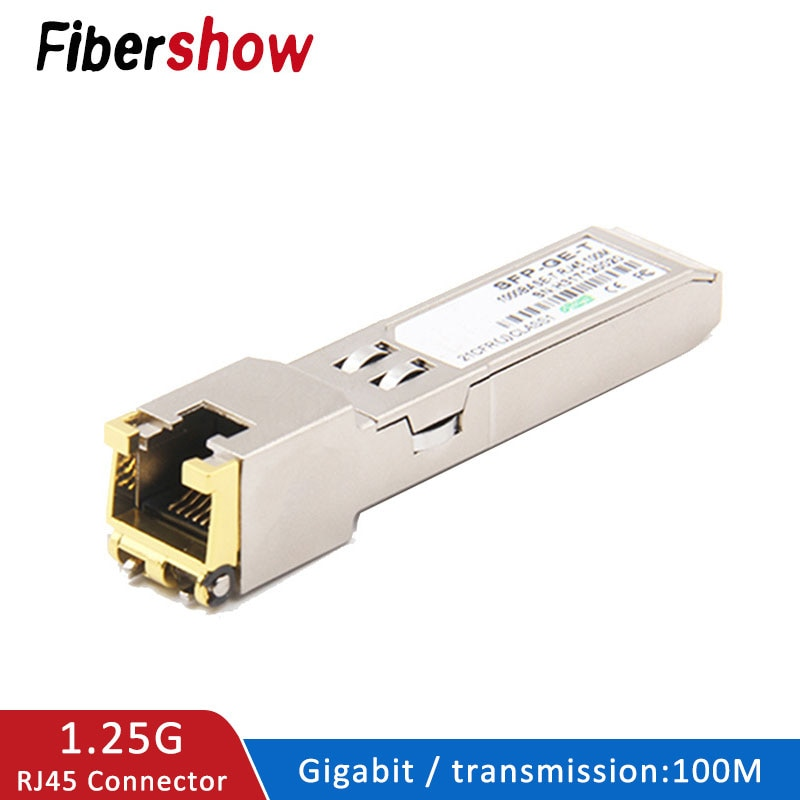 SFP module Ethernet port RJ45 Switch gbic 10/100/1000M connector Copper