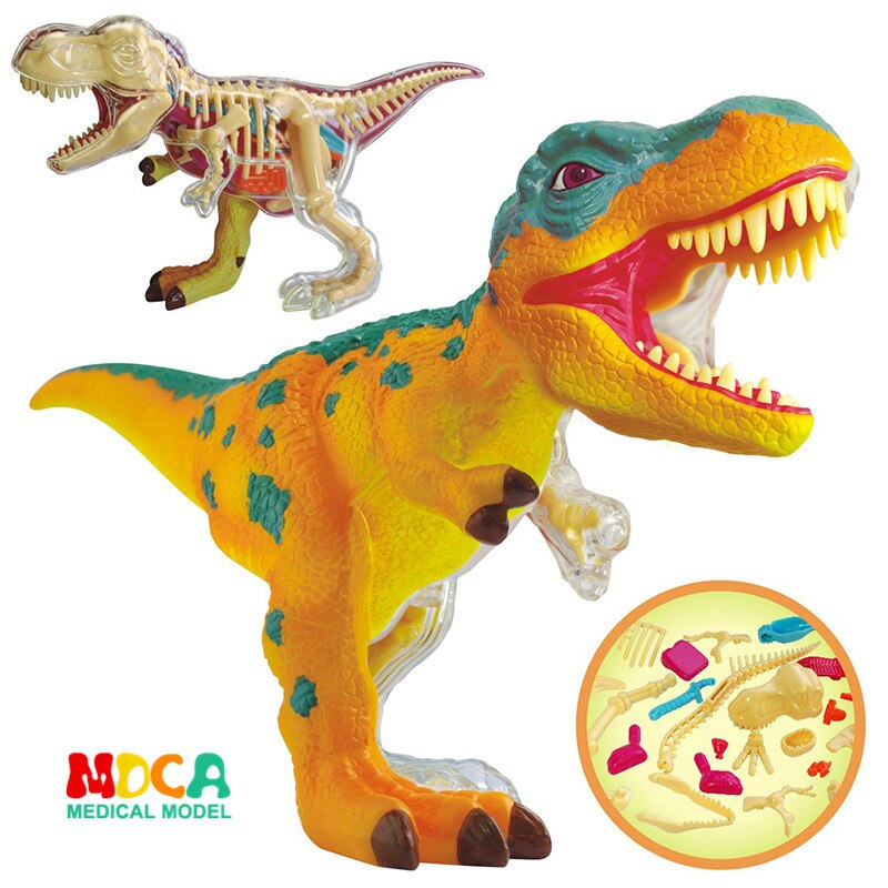 4D Master Dinosaur Anatomical Assembly Model Q Edition Tyrannosaurus Triceratopterosaur Great White Shark Simulated Animal Toy
