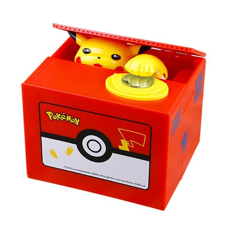 Bonito juguete de Pokémon, hucha eléctrica, alcancía, Pikachu, regalo de cumpleaños, juego de mesa para niños