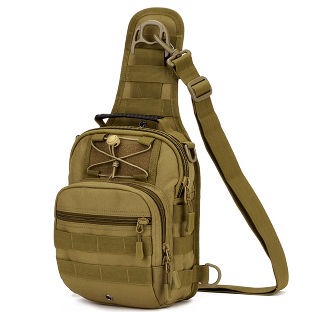 Top Qualität Durable Nylon Männer Rucksack Schulter Messenger Tote Tasche Hand Militär Rucksack Molle Tag Brust Assault Zurück Pack