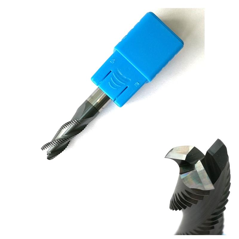 6mm x 15mm Desbaste End Mills HRC45 3 flautas fresas CNC Fresa de Topo Tools fresas Carbide áspera pedaços de moagem