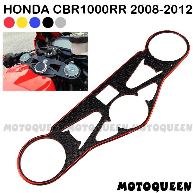 Pegatina de motocicleta Pad Triple árbol superior abrazadera frente superior para Honda CBR1000RR CBR 1000RR CBR 1000 RR 2008 2009 2010 2011 2012