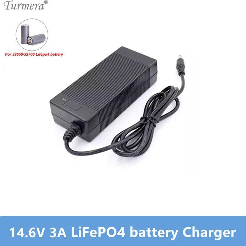 Nuevo cargador LiFePO4 14,6 V 3A 4S 12V 3A Lifepo4 cargador de batería 14,4 V cargador inteligente para 4S 12V LiFePO4 batería Turmera